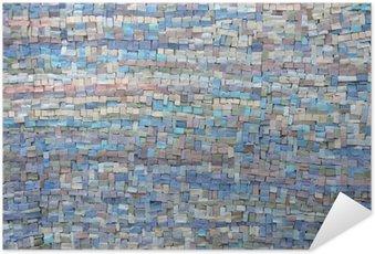 Plakát Staré modrá a fialová mozaika textura