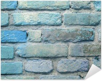 Plakát Staré modré cihlové zdi na pozadí