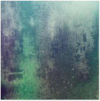 Plakát Staré textury jako abstraktní pozadí grunge. S různými barevnými vzory: zelená; fialová (fialová); šedá; tyrkysová