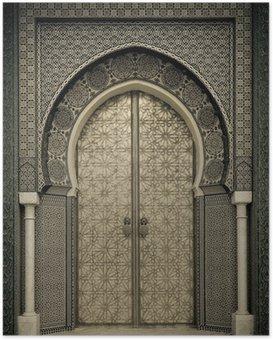 Plakát Starověké dveře, Maroko