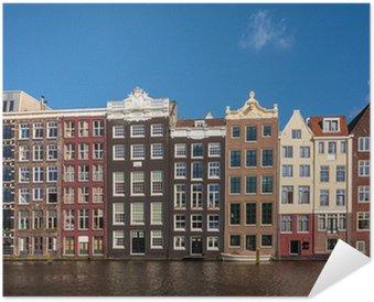 Plakát Starověké kanál domy v holandském hlavním městě Amsterdamu