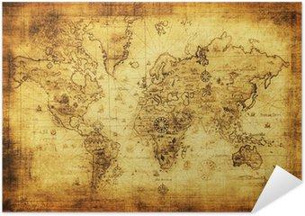 Plakát Starověké mapa světa.