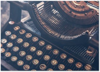 Plakát Starožitný psací stroj