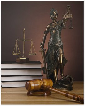 Plakat Statua pani sprawiedliwości