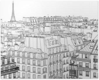 Plakát Střechy v Paříži