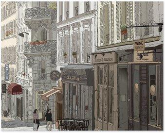 Plakát Street na Montmartru