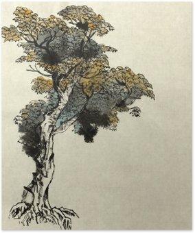 Plakát Strom kreslení příklad