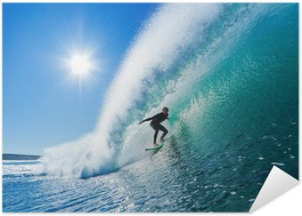Plakát Surfař na Blue Ocean Wave