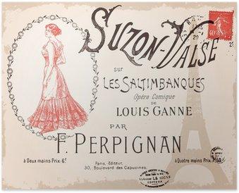 Plakát Suzon Valse