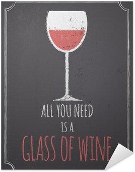 Plakát Tabule Červené víno design