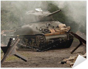 Plakát Tank Sherman - WW II