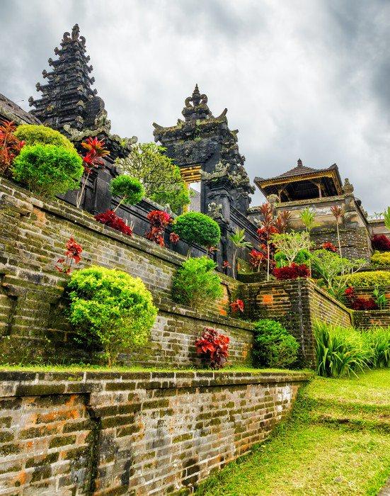 Plakát Tradiční balijské architektury. Pura Besakih chrám - Asie