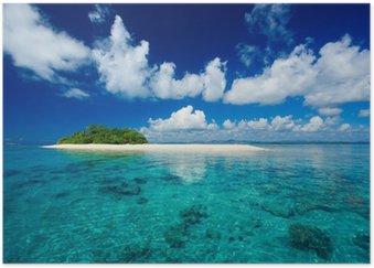 Plakát Tropický ostrov dovolená ráj