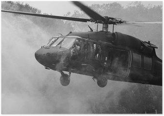 Plakát UH-60 Blackhawk vrtulník
