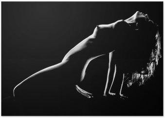 Plakát Umělecké nahá žena ve studiu