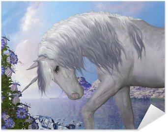 Plakát Unicorn a Blue Bell květiny