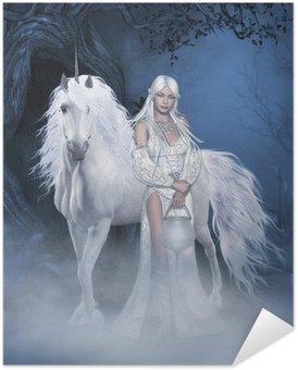 Plakát Unicorn a krásná víla