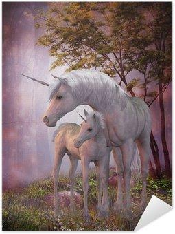 Plakát Unicorn Mare a hříbě