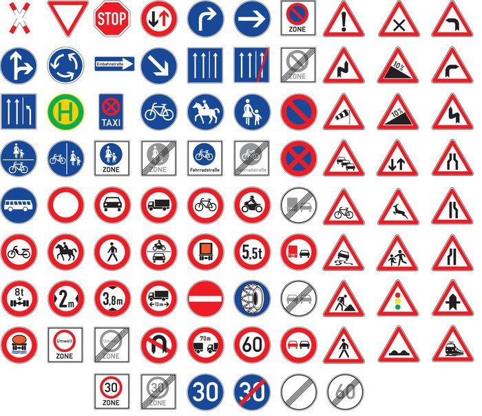 Plakat ustawi znaki drogowe i ostrzegawcze znaki pixers - Auto cool alle pagine da colorare ...