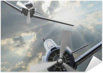 Plakát V Fighters. Retro technologie téma.