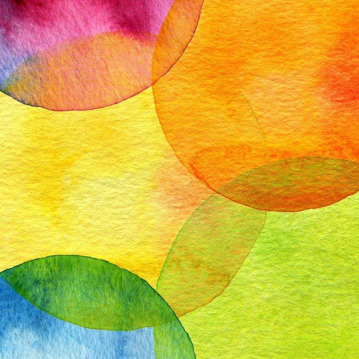 Plakát v Rámu Abstraktní akvarel kruh malovaná pozadí - Témata