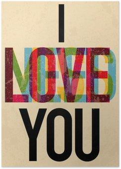Plakát Valentýna Typ Den textu kaligrafické