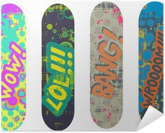 Plakát Vector skateboard konstrukce balíček s efekty cartoon stylu