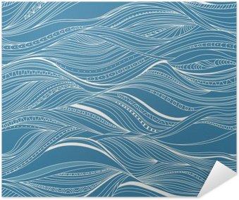 Plakát Vektorové bezešvé abstraktní vzor, vlnění