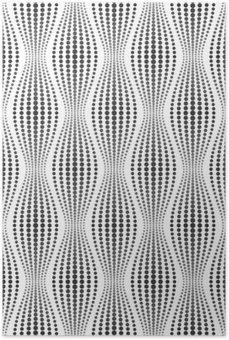 Plakát Vektorové bezešvé textury. Moderní abstraktní pozadí. Geometrické vzory bodů.