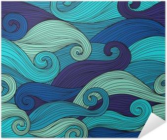 Plakát Vektorové bezproblémové vzorek s abstraktními vlnami