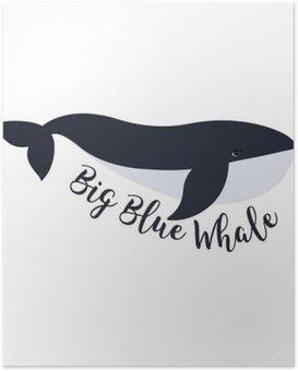 Plakát Vektorové ilustrace velryba. Design symbol