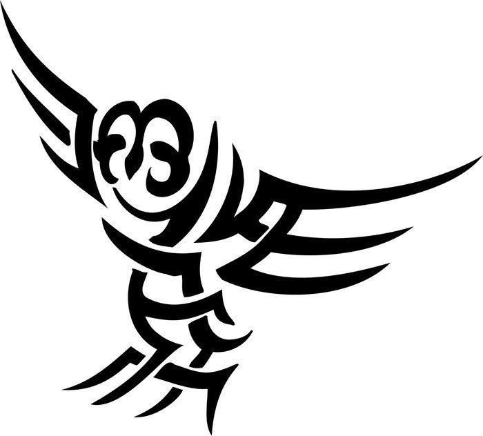 Plakát Vektorové ilustrace vilyl-ready - zvíře v kmenové stylu - Ptáci