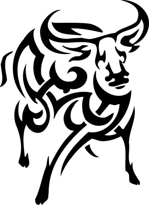 Plakát Vektorové ilustrace vilyl-ready - zvíře v kmenové stylu - Imaginární zvířata