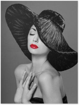 Plakát Velká žena v klobouku