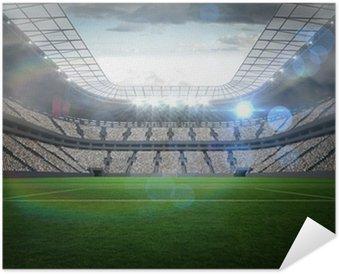 Plakát Velký fotbalový stadion s osvětlením