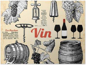 Plakát Víno ....