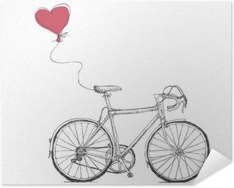 Plakát Vintage ilustrace Valentýnky kol a srdce balónem
