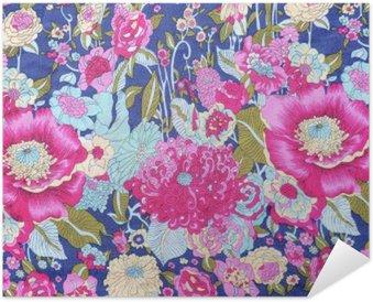 Plakát Vintage styl gobelín květy tkaniny podtisk
