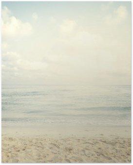 Plakát Vintage tropické pláži v létě