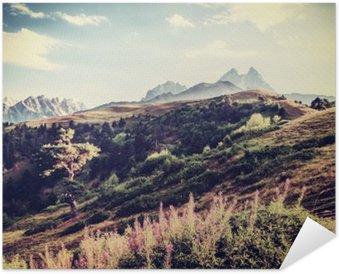 Plakát Vintage Valley a hory