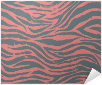 Plakát Vintage zebra černé a červené vzor
