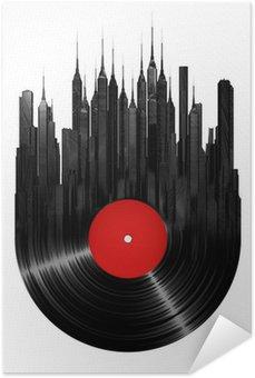 Plakát Vinyl město