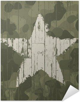 Plakát Vojenské maskování pozadí s hvězdou. Vektor, EPS10.