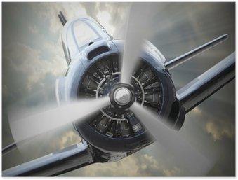Plakát Vrtulový letoun