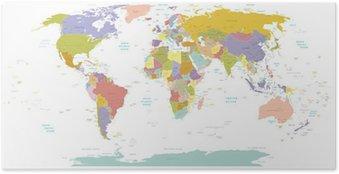 Plakát Vysoké map.Layers Detail World použít.