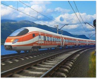 Plakát Vysokorychlostní vlak