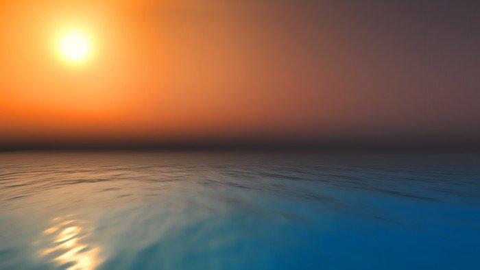 Plakát Západ slunce oceán - Voda