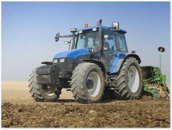 Plakát Zemědělství - Traktor