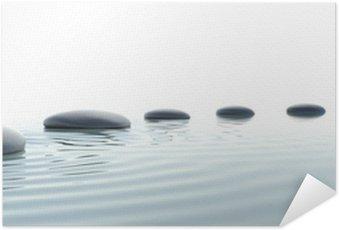 Plakát Zen cesta kamenů v širokoúhlém formátu