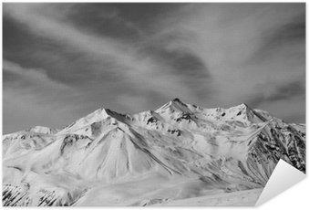 Plakát Zimní sníh hory na větrný den